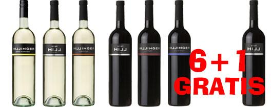 Hillinger Probierset   6 + 1 Flasche Small Hill Red GRATIS   / Hillinger
