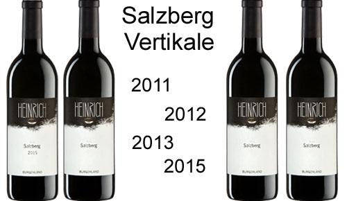 Salzberg Vertikal Paket  2011/2012/2013/2015 + Original Salzberg Holzkiste    / Heinrich Gernot