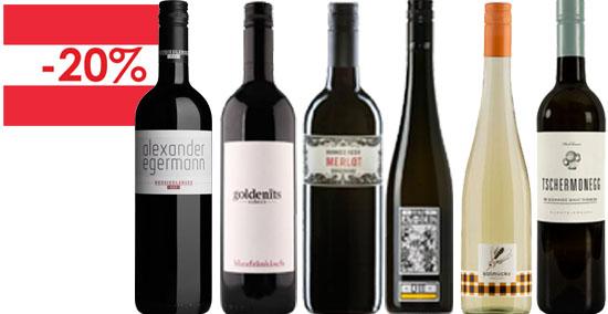 Rot Weiss Rot 6er Weinkarton zum Nationalfeiertag   / Kalmuck