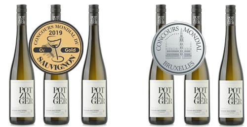 Potzinger Sieger Paket Consours Mondial Sauvignon Blanc 2019   / Potzinger Stefan