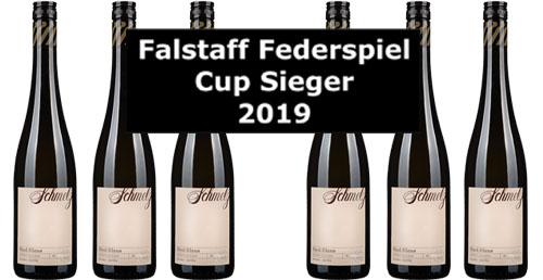 Falstaff Federspiel-Cup-Sieger Schmelz  2019 im 6er Pack   / Schmelz