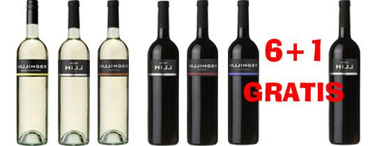 Hillinger Probierset 6+1 Flasche Small Hill Red GRATIS   / Hillinger