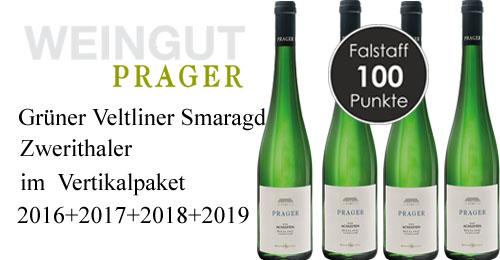 Prager Grüner Veltliner Smaragd Zwerithaler Vertikalpaket 2016 - 2019   / Prager