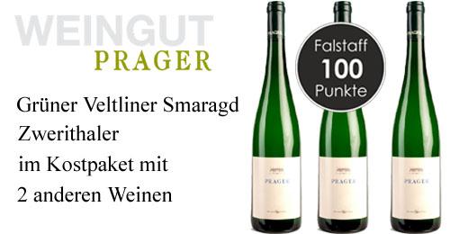 Prager Grüner Veltliner Smaragd Zwerithaler Kammergut 2019 Paket   / Prager
