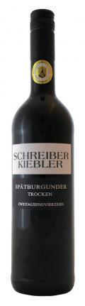 Spätburgunder 49°52´47.86´´N 8°12´11.51´´O trocken 2014 / Schreiber-Kiebler
