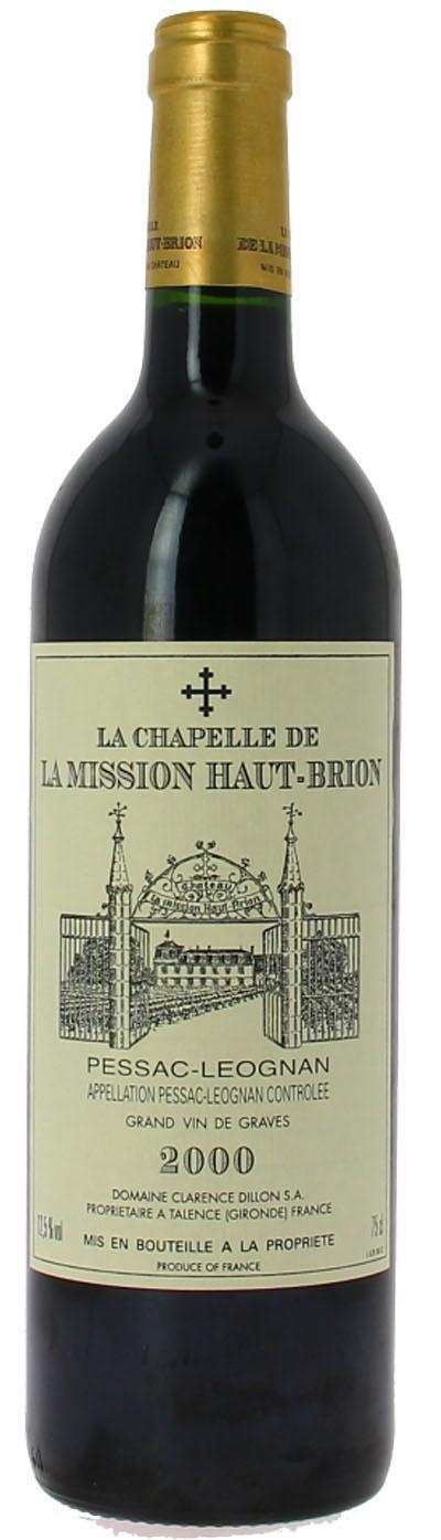 La Chapelle de La Mission Haut-Brion  2000 / Chateau Chapelle de La Mission Haut-Brion