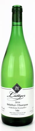 Müller Thurgau Qualitätswein lieblich 2016 / Weinhaus Lüttger