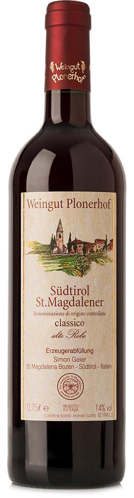 "Vernatsch Südtirol St. Magdalener classico ""alte Rebe"" DOC         2016 / Plonerhof"