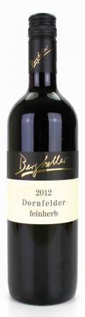 Dornfelder Niederkirchener Schloßberg 2012 / Wein- & Sektgut, Destillerie Bergkeller