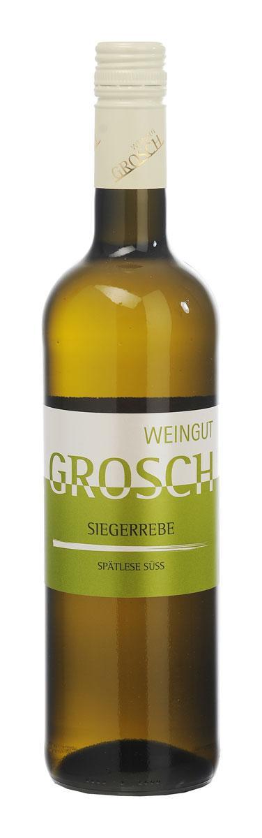 Siegerrebe Spätlese süss 2017 / Grosch