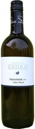 Grüner Veltliner Weinviertel DAC Alte Ried 2014 / Kridlo