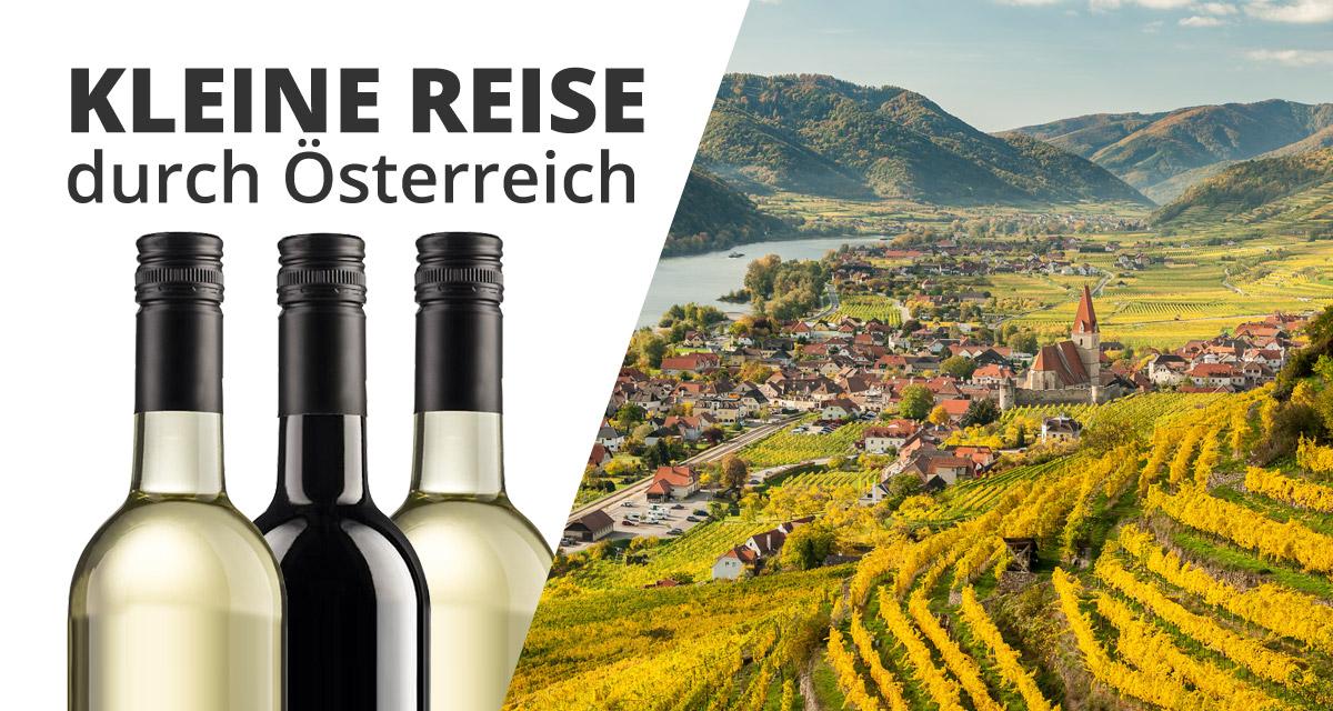 """3er Wein Geschenkset """"kleine Reise durch Österreich""""   /"""