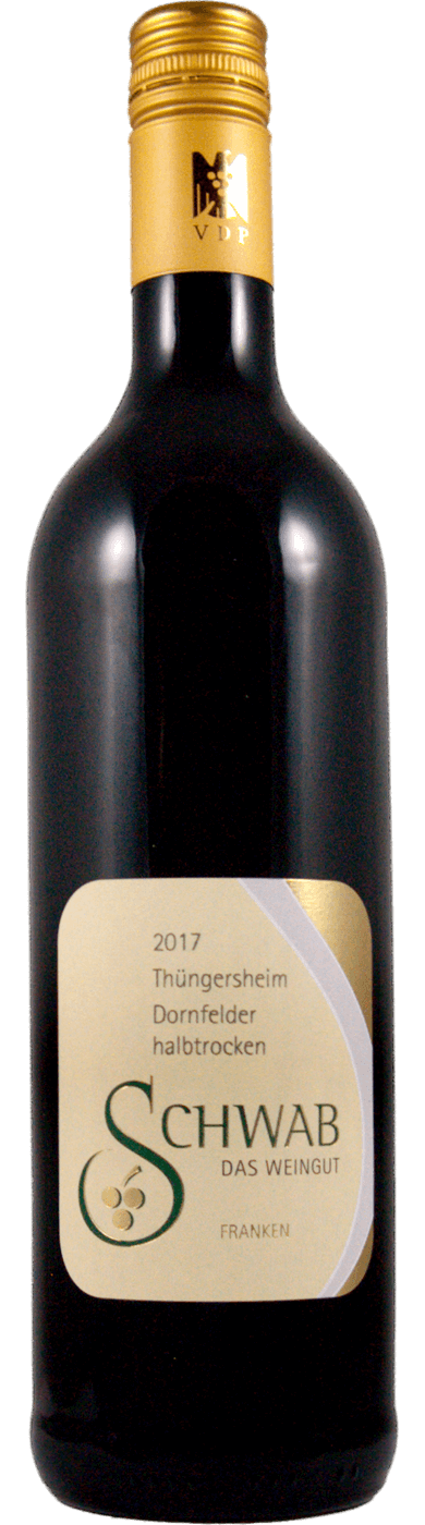 Dornfelder halbtrocken 2017 / Schwab