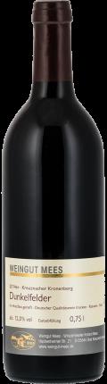 Dunkelfelder Rotwein trocken Qualitätswein QbA Kreuznacher Kronenberg  2014 / Mees