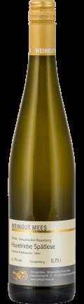 Huxelrebe Spätlese lieblich süss Kreuznacher Rosenberg Weißwein 2016 / Mees