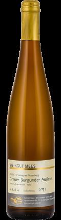 Grauer Burgunder Auslese edelsüß süss Kreuznacher Rosenberg Weißwein 2016 / Mees