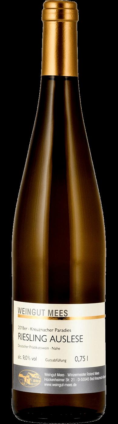 Riesling Auslese edelsüß süss Kreuznacher Paradies Weißwein 2018 / Mees