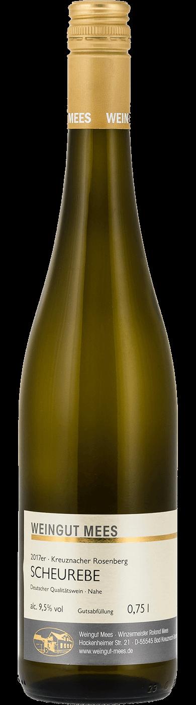 Scheurebe lieblich Qualitätswein QbA Kreuznacher Rosenberg 2017 / Mees