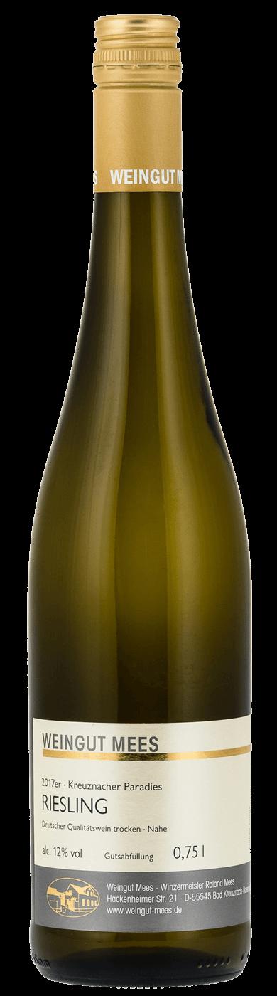 Riesling trocken Qualitätswein QbA Kreuznacher Paradies 2018 / Mees