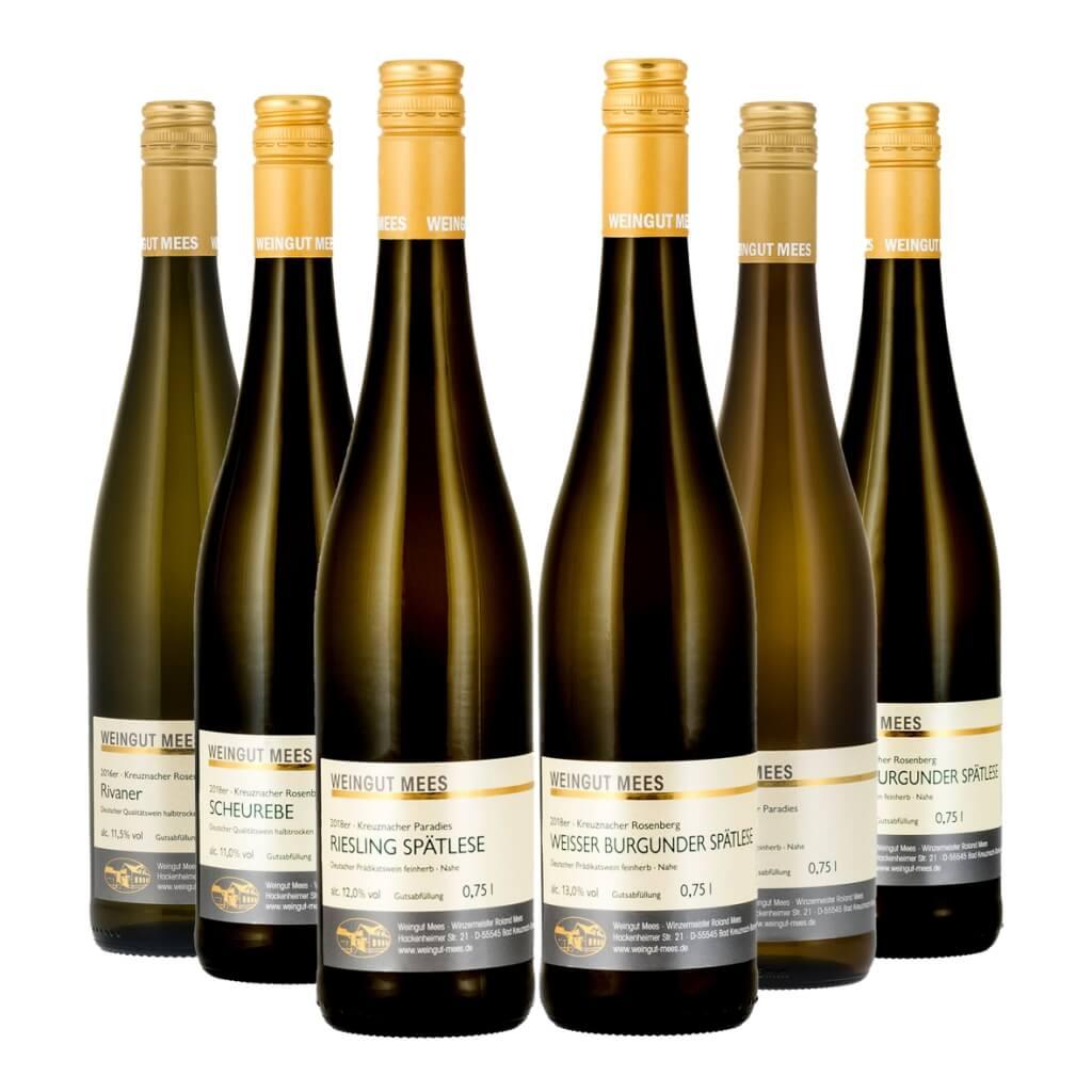 Probierpaket Weißwein halbtrocken / feinherb   / Mees