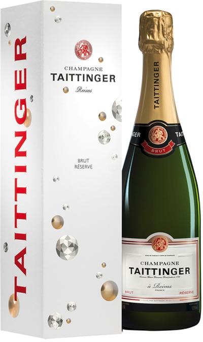 Taittiner Brut Reserve in Geschenkshülle . / Taittinger