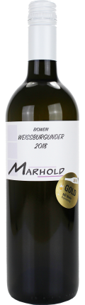 Weißburgunder Biowein 2018 / Marhold