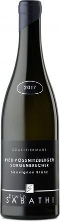 Sauvignon Blanc Ried Pössnitzberger Sorgenbrecher STK Lage 2017 / Sabathi Erwin